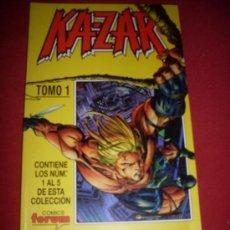 Cómics: FORUM RETAPADO KA-ZAR TOMO 1 CONTIENE DEL 1 AL 5 COMO NUEVO. Lote 37321231