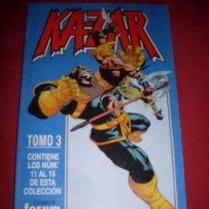 Cómics: FORUM RETAPADO KA-ZAR TOMO 3 CONTIENE DEL 11 AL 15 COMO NUEVO. Lote 37321579