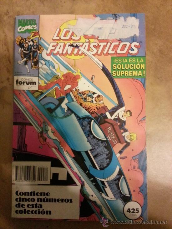 LOS 4 FANTÁSTICOS VOLUMEN 1 DE FORUM Nº 101 , 102 , 103 , 104 Y 105 EN UN RETAPADO (Tebeos y Comics - Forum - 4 Fantásticos)