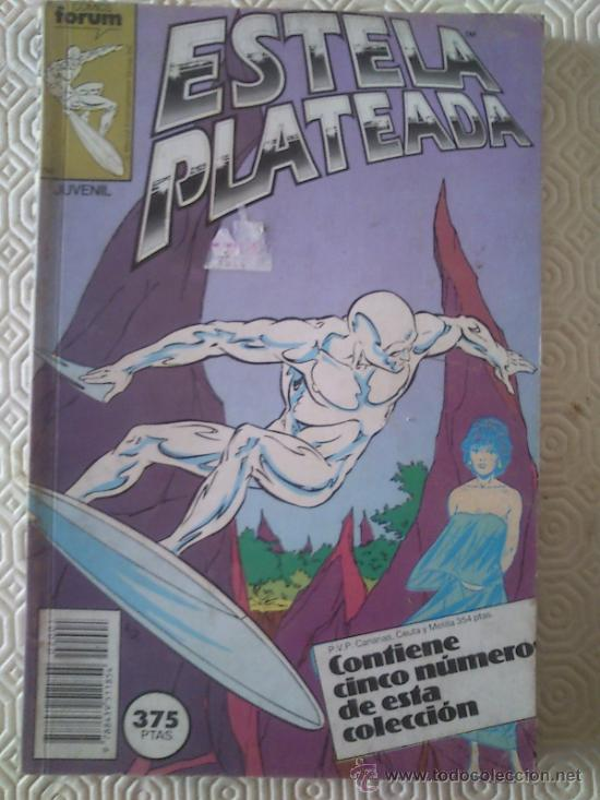 ESTELA PLATEADA VOLUMEN I DE STEVE ENGLEHART, MARSHALL ROGERS NUMEROS 1, 2, 3, 4, 5 (Tebeos y Comics - Forum - Silver Surfer)