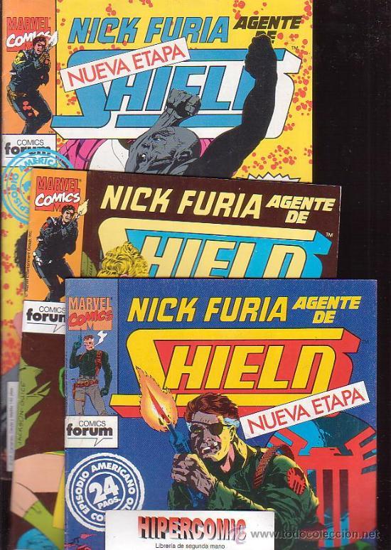 NICK FURIA AGENTE DE SHIELD ( NUEVA ETAPA ) LOTE 3 EJEMPLARES Nº 1, 2, 3, (Tebeos y Comics - Forum - Furia)