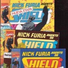 Cómics: NICK FURIA AGENTE DE SHIELD ( NUEVA ETAPA ) LOTE 3 EJEMPLARES Nº 1, 2, 3,. Lote 38075649