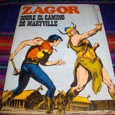 Cómics: ZAGOR Nº 57. BURU LAN 1973. 25 PTS. SOBRE EL CAMINO DE MARYVILLE. DIFÍCIL Y BUEN ESTADO!!!!!!!!!. Lote 38084672