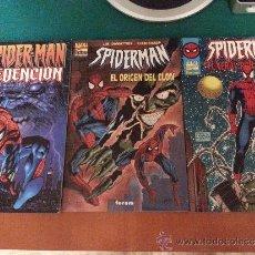 Cómics: LOTE DE 3 COMICS DE SPIDERMAN - DIFICILES DE CONSEGUIR - FORUM - COMO NUEVOS. Lote 38310435