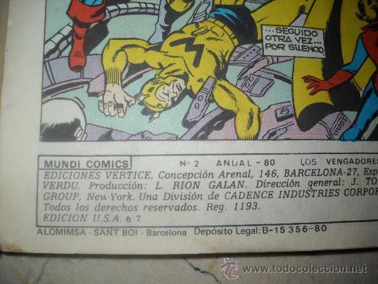 """Cómics: LOS VENGADORES ,NUMERO 2,""""SIN VICTORIA FINAL"""" - Foto 3 - 38763203"""