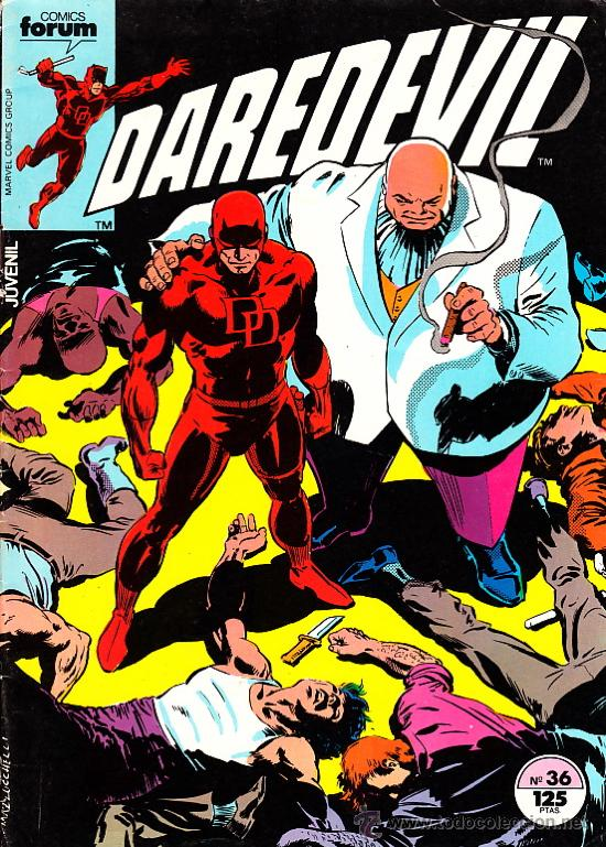 DAREDEVIL VOL.1 # 36 (FORUM,1985) - DAVID MAZZUCCHELLI (Tebeos y Comics - Forum - Daredevil)