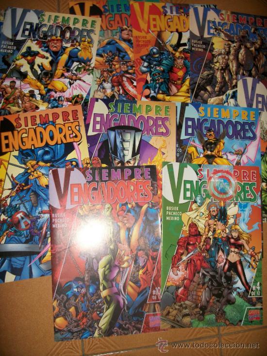 LOTE SIEMPRE VENGADORES - COLECCIÓN COMPLETA - 12 NUMEROS BUSIEK - PACHECO (Tebeos y Comics - Forum - Vengadores)