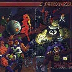 Cómics: ARCHIVOS MARVEL - 2 TOMOS - COMPLETA - FORUM - 4 FANTÁSTICOS. Lote 39478754