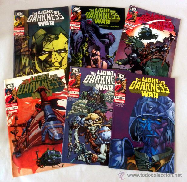 Cómics: LOTE DE 6 COMICS * THE LIGHT AND DARKNESS WAR DEL 1 AL 6 * FORUM EPIC SERIES - Foto 2 - 39828464