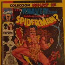 Cómics: ¿Y SI KRAVEN EL CAZADOR HUBIESE MATADO A SPIDERMAN? Nº 26 AÑO 1990. Lote 194107785