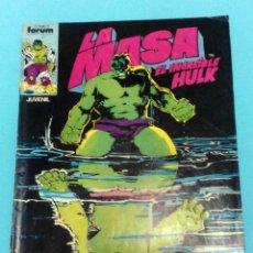 Cómics: LA MASA (THE HULK) VOLUMEN 1 NÚMERO 34 CÓMICS FORUM MARVEL. Lote 37213359