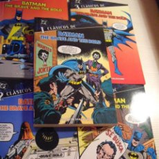 Cómics: COMICS CLASICOS DC BATMAN THE BRAVE AND THE BOLD COMPLETA 5 TOMOS. Lote 40030833