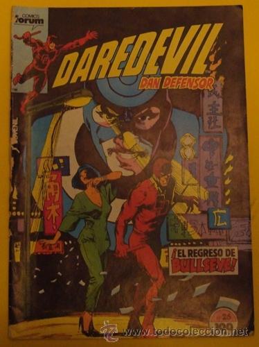 DAREDEVIL DAN DEFENSOR ¡EL REGRESO DE BULLSEYE! NO.26 AÑO 1985 (Tebeos y Comics - Forum - Daredevil)