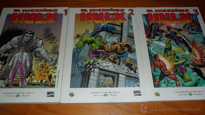 EL INCREIBLE HULK, 3 TOMOS CON EL MATERIAL ESENCIAL DEL PERSONAJE, INCLUYE HULK 1 AL 5 USA, ..... (Tebeos y Comics - Forum - Hulk)