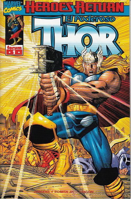 THOR VOL.3 # 1 (FORUM,1999) - JOHN ROMITA JR - 42 PAGS (Tebeos y Comics - Forum - Thor)