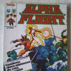 Cómics: ALPHA FLIGHT / LA MASA VOLUMEN 1 NUMERO 32, 33, 34, 35 DE BILL MANTLO, SAL BUSCEMA, DAVID ROSS.... Lote 40114348