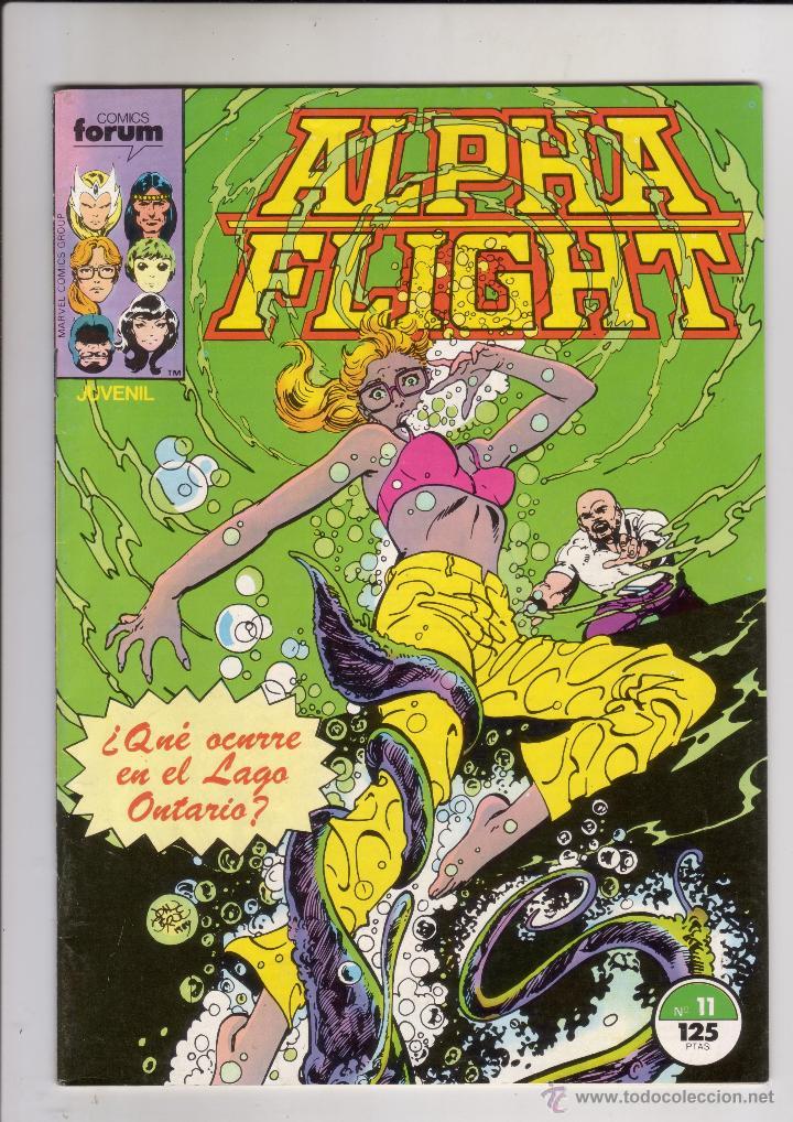 FORUM - ALPHA FLIGHT VOL.1 NUM. 11 . CON EL POSTER DE BYRNE (Tebeos y Comics - Forum - Alpha Flight)