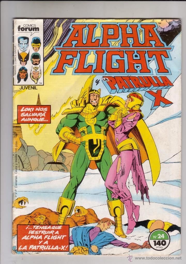 FORUM - ALPHA FLIGHT VOL.1 NUM. 24 (Tebeos y Comics - Forum - Alpha Flight)