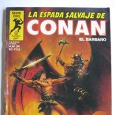Cómics: LA ESPADA SALVAJE DE CONAN Nº 34. SERIE ORO. PLANETA COMIC. FORUM. Lote 40200466