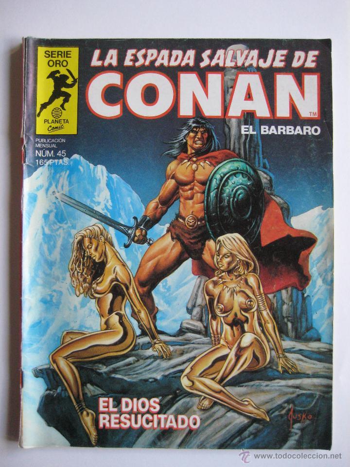 LA ESPADA SALVAJE DE CONAN Nº 45. SERIE ORO. PLANETA COMIC. FORUM (Tebeos y Comics - Forum - Conan)