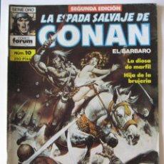 Cómics: LA ESPADA SALVAJE DE CONAN Nº 10. SEGUNDA EDICION. SERIE ORO. FORUM. Lote 40270284