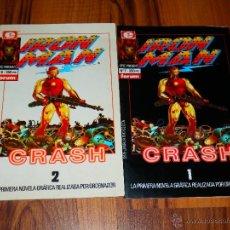 Cómics: IRON MAN CRASH 1 Y 2 7 Y 8 SERIE LIMITADA EPIC COMICS MARVEL 1988 VER FOTOS . Lote 40708268