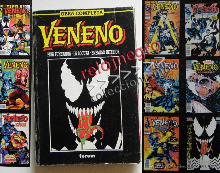 VENENO OBRA COMPLETA COMICS PIRA F/ LA LOCURA / ENEMIGO INTERIOR CÓMIC FORUM CON PUNISHER PATRULLA X (Tebeos y Comics - Forum - Retapados)
