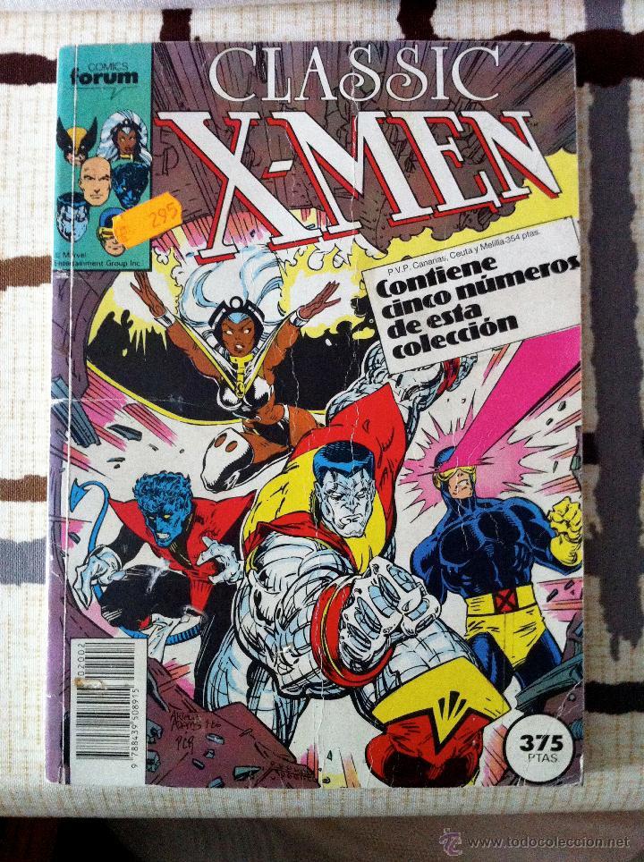 CLASSIC X-MEN. RETAPADO DESDE EL Nº 6 AL 9. CURIOSO PUES EL ÚLTIMO ES UNA REPETICIÓN DEL Nº 8. (Tebeos y Comics - Forum - Retapados)