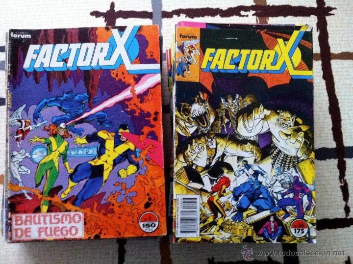 FACTOR X. LOTE DE 79 COMICS + 3 CROSSOVERS. TODOS 1ª EDICIÓN ESPAÑOLA, AÑO 1988. (Tebeos y Comics - Forum - Factor X)