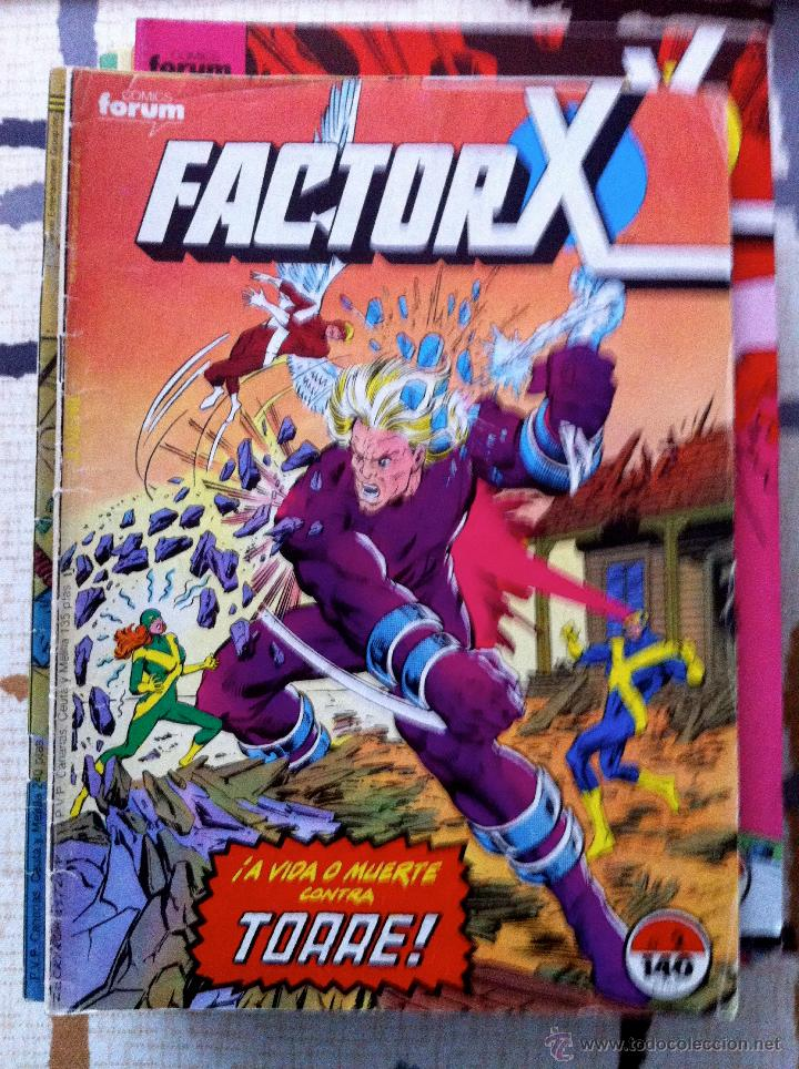Cómics: FACTOR X. Lote de 79 comics + 3 Crossovers. Todos 1ª edición española, año 1988. - Foto 3 - 41102834