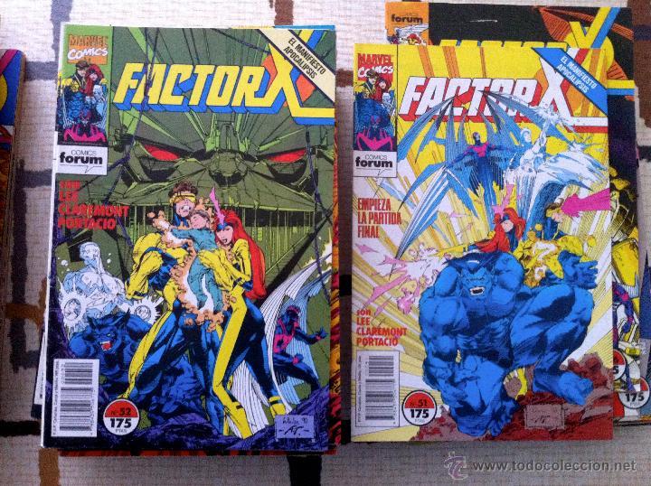 Cómics: FACTOR X. Lote de 79 comics + 3 Crossovers. Todos 1ª edición española, año 1988. - Foto 13 - 41102834