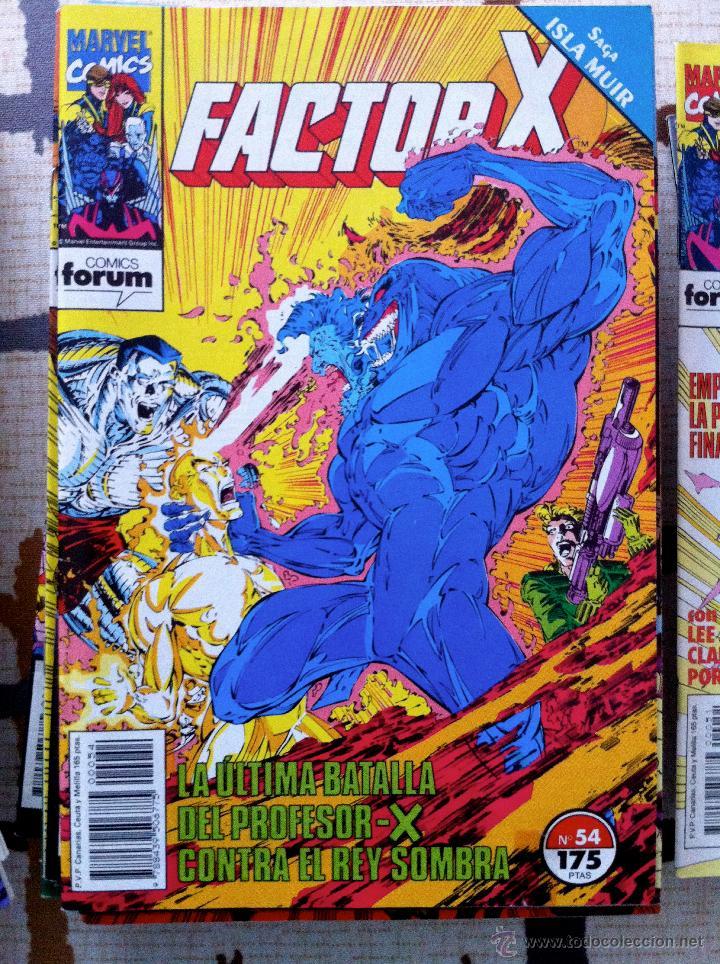Cómics: FACTOR X. Lote de 79 comics + 3 Crossovers. Todos 1ª edición española, año 1988. - Foto 14 - 41102834
