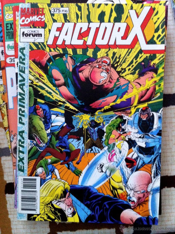 Cómics: FACTOR X. Lote de 79 comics + 3 Crossovers. Todos 1ª edición española, año 1988. - Foto 16 - 41102834