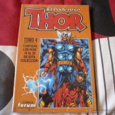 Cómics: THOR VOLUMEN 4 NUMEROS 16 A 20 FORUM EN UN RETAPADO.. Lote 65050498