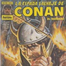 Cómics: COMIC - LA ESPADA SALVAJE DE CONAN EL BÁRBARO -Nº 75 ED.FORUM 1ª ED.. Lote 41427505