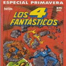 Cómics: LOS 4 FANTASTICOS. 2 ESPECIALES POR STAN LEE Y JACK KIRBY + 2 ESPECIALES CLASICOS MARVEL, ESTELA PLA. Lote 41516927