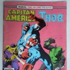 Cómics: COMICS FORUM MARVEL TWO - IN - ONE PRESENTA CAPITAN AMERICA THOR Nº 65. Lote 90746303