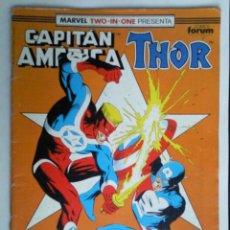 Cómics: COMICS FORUM MARVEL TWO - IN - ONE PRESENTA CAPITAN AMERICA THOR Nº 67. Lote 41650050
