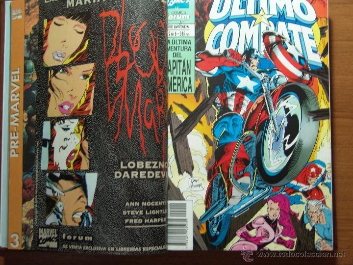 ULTIMO COMBATE Y VOLUMEN 3 DEL CAPITAN AMERICA DE FORUM COMPLETAS ENCUADERNADAS (Tebeos y Comics - Forum - Capitán América)