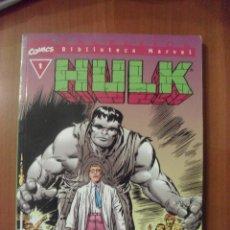 Cómics: HULK, NUMERO 1, BIBLIOTECA MARVEL,. Lote 42491170