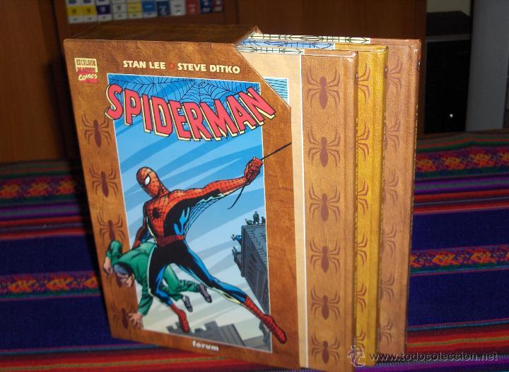 FORUM SPIDERMAN STEVE DITKO COMPLETA 3 NºS CON ESTUCHE. 2002. MUY BUEN ESTADO Y RARO. (Tebeos y Comics - Forum - Spiderman)