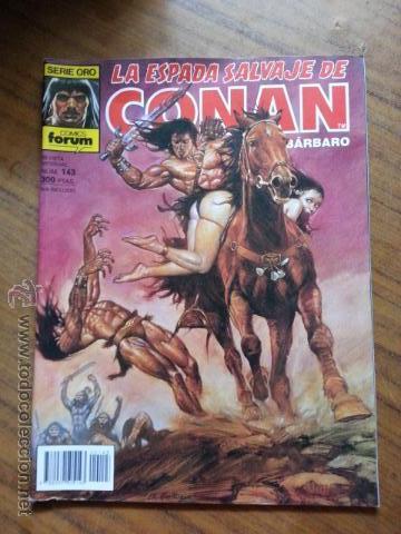 LA ESPADA SALVAJE DE CONAN Nº 143 - 1 EDICION FORUM (Tebeos y Comics - Forum - Conan)