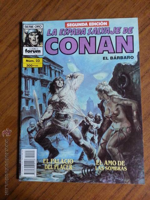 LA ESPADA SALVAJE DE CONAN Nº 23 - 2 EDICION FORUM (Tebeos y Comics - Forum - Conan)