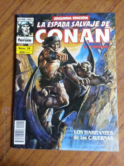 LA ESPADA SALVAJE DE CONAN Nº 24 - 2 EDICION FORUM (Tebeos y Comics - Forum - Conan)