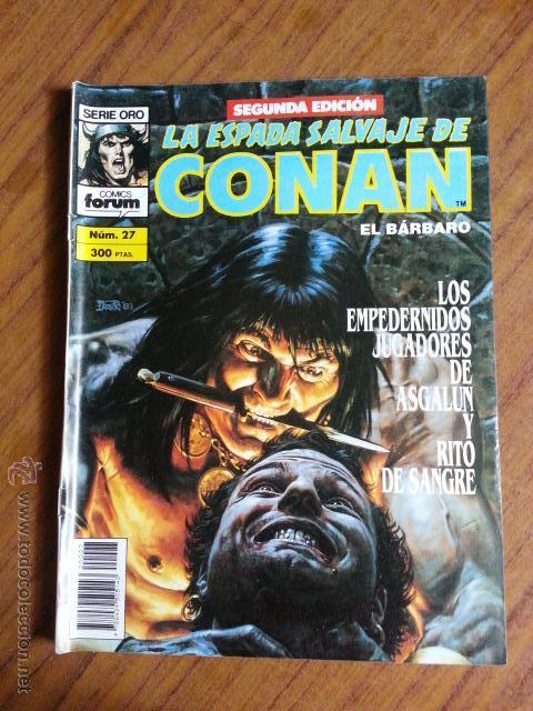 LA ESPADA SALVAJE DE CONAN Nº 27 - 2 EDICION FORUM (Tebeos y Comics - Forum - Conan)