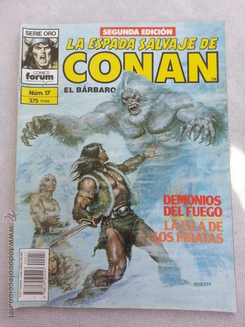 LA ESPADA SALVAJE DE CONAN Nº 17 - 2 EDICION FORUM (Tebeos y Comics - Forum - Conan)