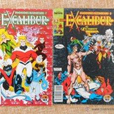 Cómics: EXCALIBUR COMICS, NÚMEROS 18 Y 19, FORUM COMICS, PLANETA DEAGOSTINI, AÑO 1990, CHRIS CLAREMONT. Lote 43050481