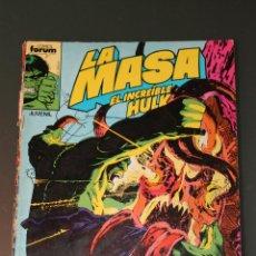 Cómics: LA MASA 39 VOLUMEN 1 FORUM EL INCREIBLE HULK. Lote 43085291