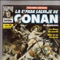Cómics: FORUM - ESPADA SALVAJE DE CONAN NUM.10 ( 2ª EDICION ). MBE. Lote 43195569