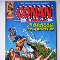 Cómics: CONAN EL BÁRBARO - ¡EL DRAGÓN DEL MAR INTERIOR! - ROY THOMAS & JOHN BUSCEMA. Lote 43205202